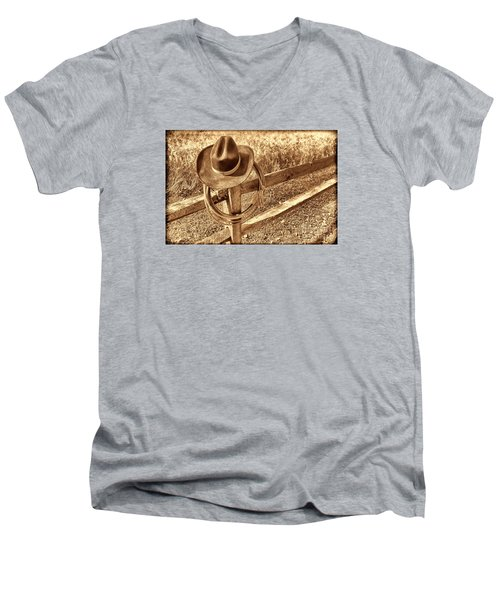 Hat And Lariat Men's V-Neck T-Shirt