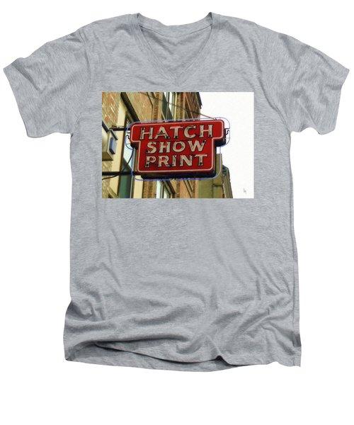 Hatch Show Print Men's V-Neck T-Shirt by Sandy MacGowan
