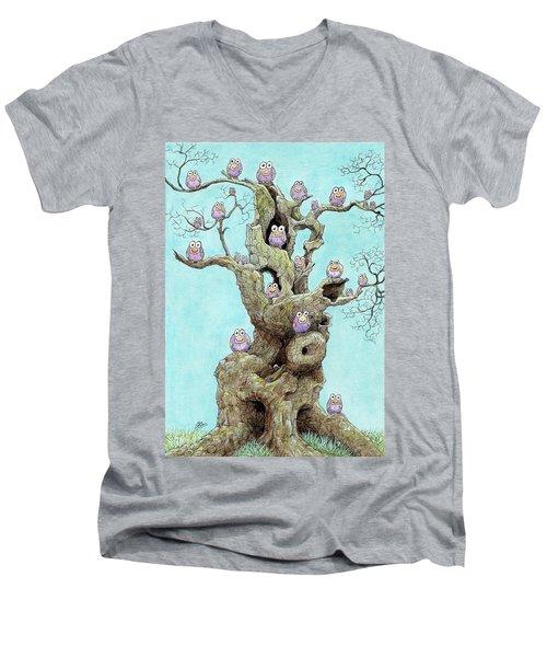 Hatchlings Men's V-Neck T-Shirt by Charles Cater