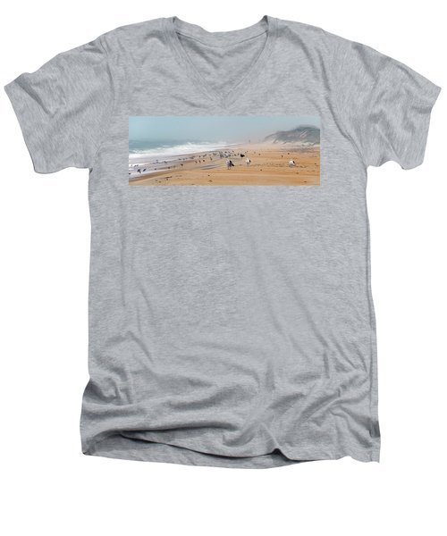 Hatteras Island Beach Men's V-Neck T-Shirt
