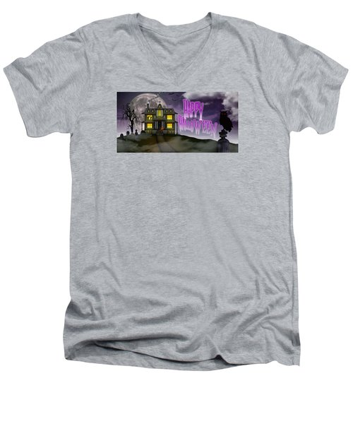 Haunted Halloween Men's V-Neck T-Shirt