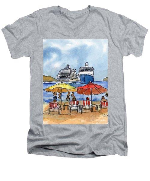 Hautuco Dock Men's V-Neck T-Shirt