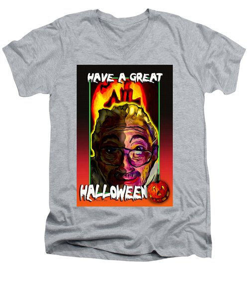 Have A Great Halloween Men's V-Neck T-Shirt by Ted Azriel