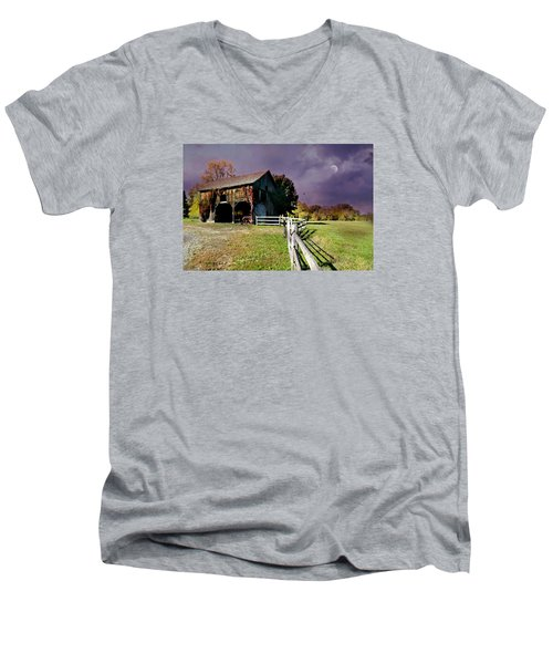 Time To Leave Men's V-Neck T-Shirt by Diana Angstadt