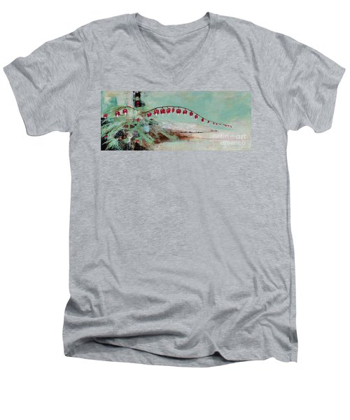 Have We Become Comfortably Numb Men's V-Neck T-Shirt by Frances Marino