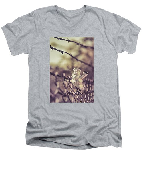 Men's V-Neck T-Shirt featuring the photograph Have Yourself A Merry Christmas by Caitlyn Grasso