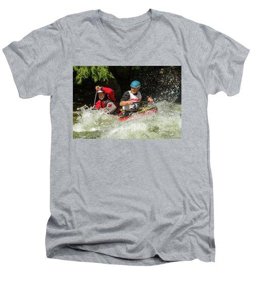 Having Fun In Whitewater Men's V-Neck T-Shirt