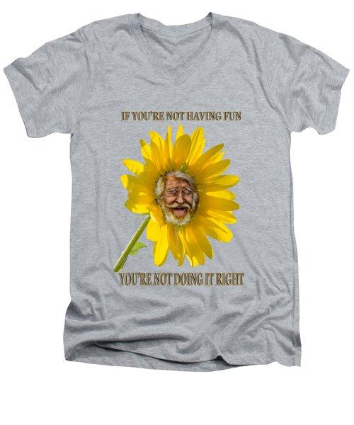 Having Fun Men's V-Neck T-Shirt by Rick Mosher