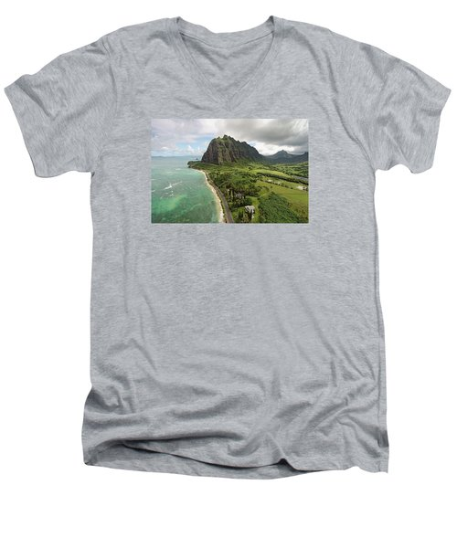 Hawaii Beauty Men's V-Neck T-Shirt by James Roemmling