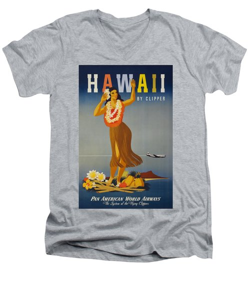 Hawaii By Clipper Men's V-Neck T-Shirt