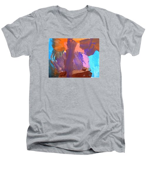 Hawaii Men's V-Neck T-Shirt by Fred Wilson