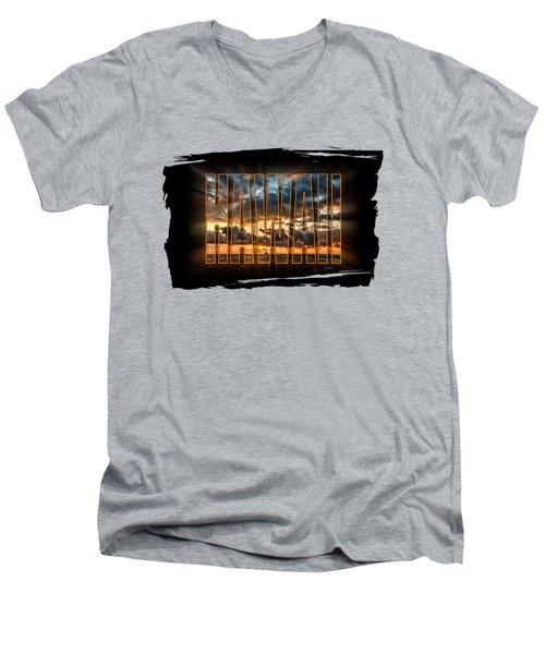 Hawaii Sunset Men's V-Neck T-Shirt by David Lawson