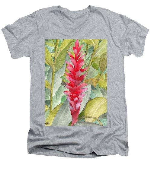 Hawaiian Beauty Men's V-Neck T-Shirt