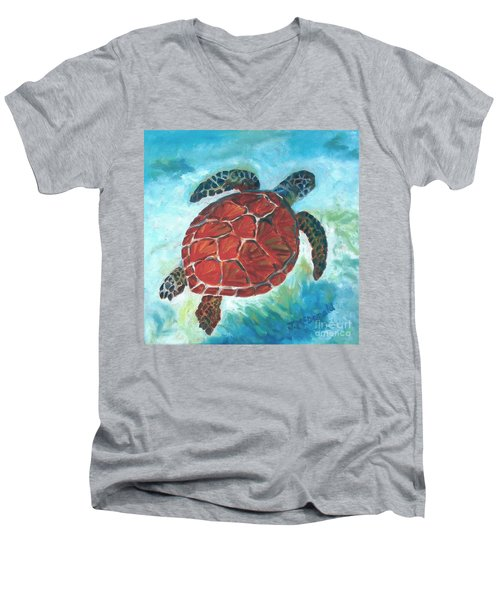 Hawaiian Honu Men's V-Neck T-Shirt
