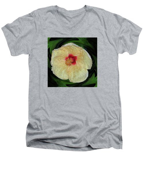 Hawaiian Hybiscus Men's V-Neck T-Shirt