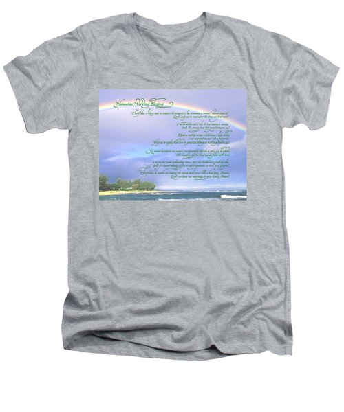 Hawaiian Language Wedding Blessing Men's V-Neck T-Shirt