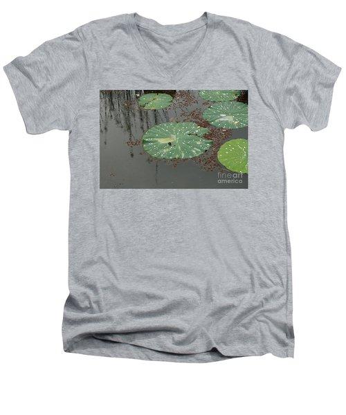 Hawaiian Lilly Pad 1 Men's V-Neck T-Shirt