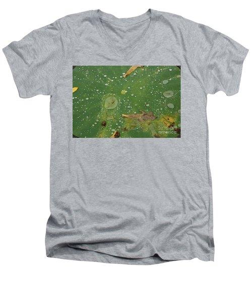 Hawaiian Lilly Pad 2 Men's V-Neck T-Shirt