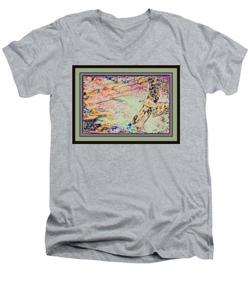 Hawk And Sky Men's V-Neck T-Shirt by YoMamaBird Rhonda