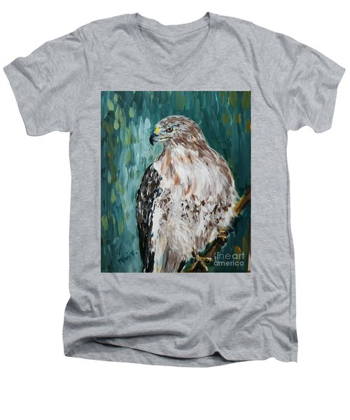 Hawk Men's V-Neck T-Shirt