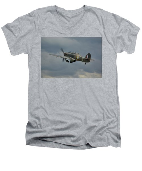 Hawker Hurricane Mk Xii  Men's V-Neck T-Shirt by Tim Beach