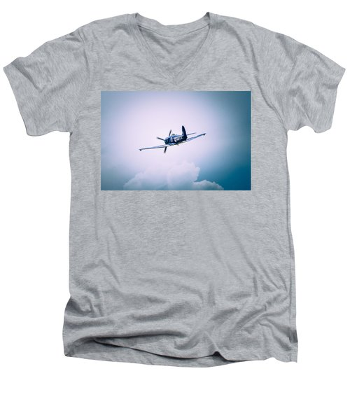 Hawker Sea Fury Fb11 Men's V-Neck T-Shirt