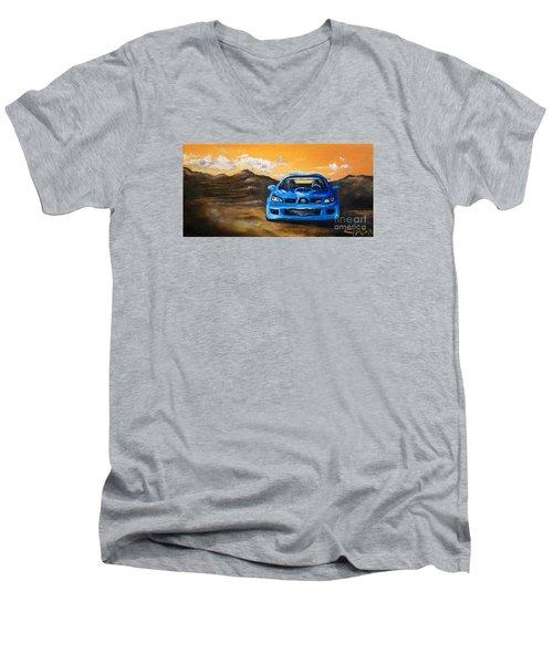 Hawkeye  Men's V-Neck T-Shirt by Chad Berglund