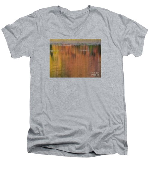 Hawkins Autumn Abstract 2015 Men's V-Neck T-Shirt