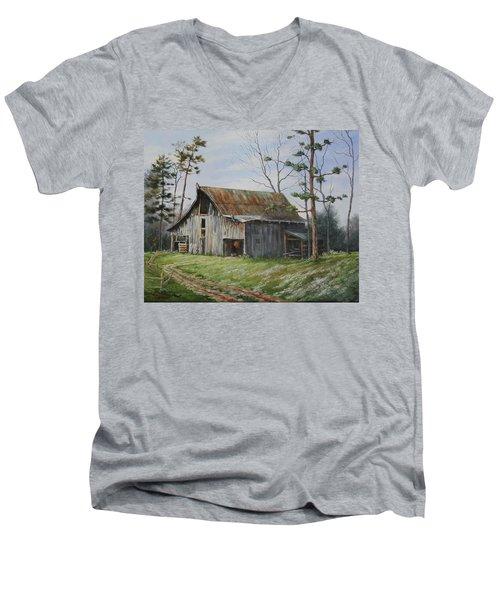 Hawks At The Barn Men's V-Neck T-Shirt