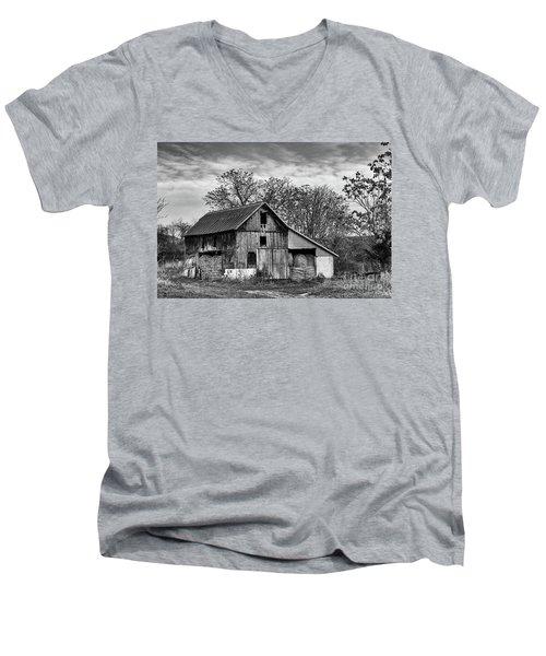 Hay Storage Men's V-Neck T-Shirt by Nicki McManus