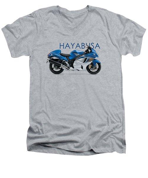 Hayabusa In Blue Men's V-Neck T-Shirt