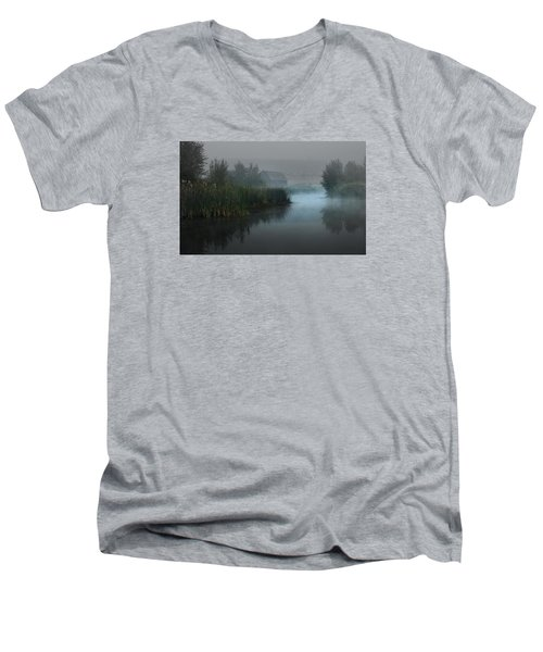 Haynes Ranch Predawn II Men's V-Neck T-Shirt by John Poon