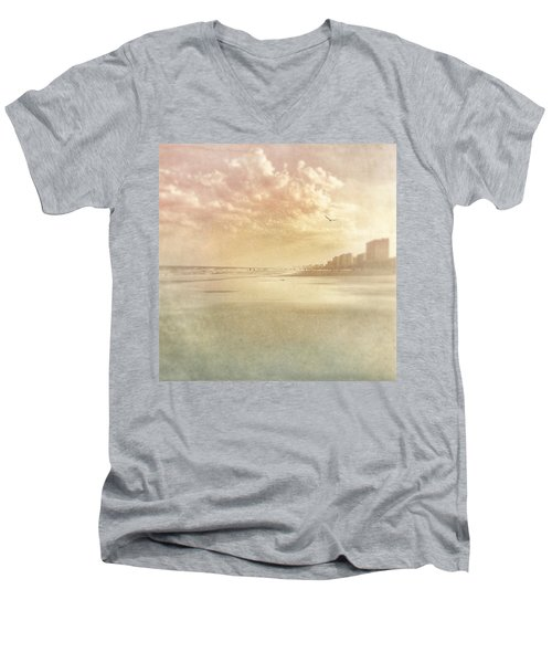Hazy Day At The Beach Men's V-Neck T-Shirt