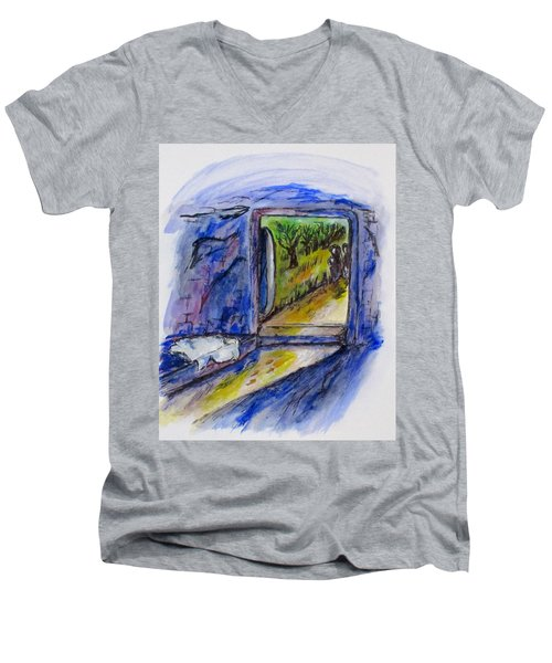 He Is Gone Men's V-Neck T-Shirt by Clyde J Kell