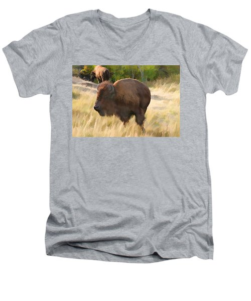 He Just About Got Me Men's V-Neck T-Shirt