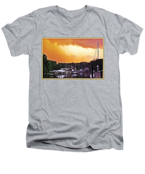Men's V-Neck T-Shirt featuring the photograph Head For Safety by Brian Wallace