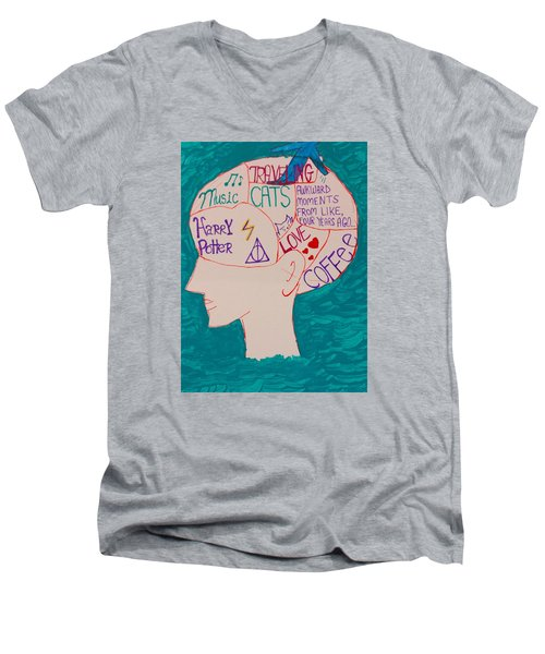 Head In Clouds Men's V-Neck T-Shirt by Artists With Autism Inc