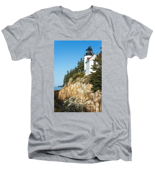 Men's V-Neck T-Shirt featuring the photograph Head Lighthouse by Anthony Baatz