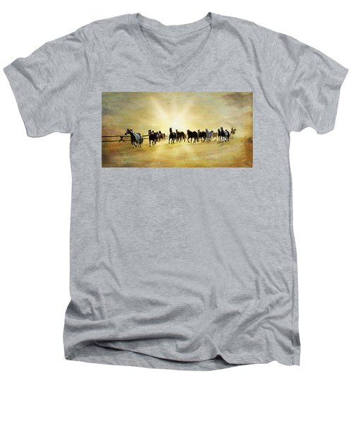Headed Home Ll Men's V-Neck T-Shirt