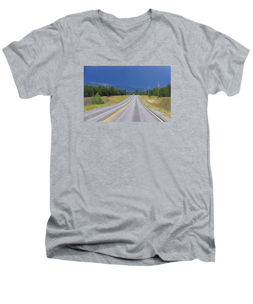 Men's V-Neck T-Shirt featuring the photograph Heading Into The Storm by Susan Crossman Buscho