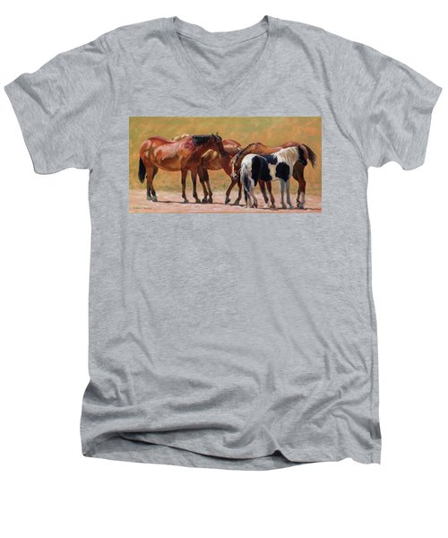 Heads Or Tails Men's V-Neck T-Shirt by Bonnie Mason