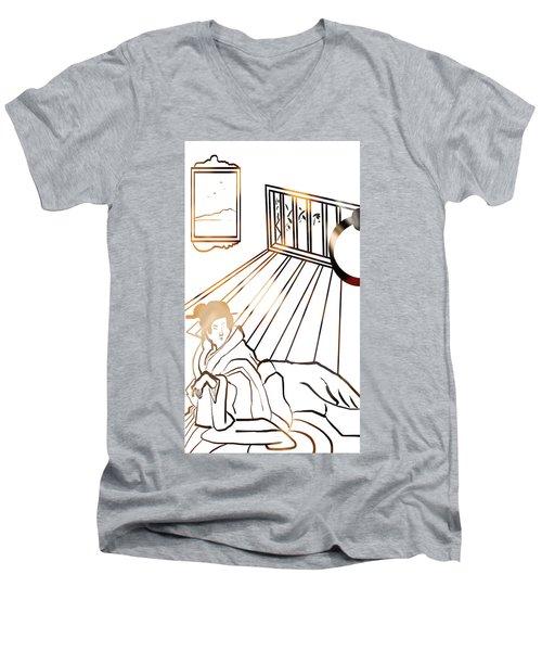 Healing . Energy Men's V-Neck T-Shirt