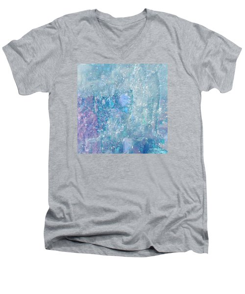 Healing Art By Sherri Of Palm Springs Men's V-Neck T-Shirt by Sherri's Of Palm Springs