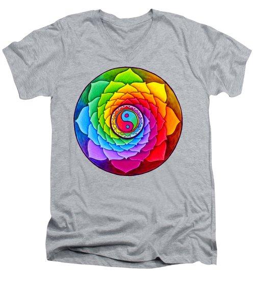 Healing Lotus Men's V-Neck T-Shirt