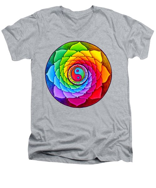 Healing Lotus Men's V-Neck T-Shirt