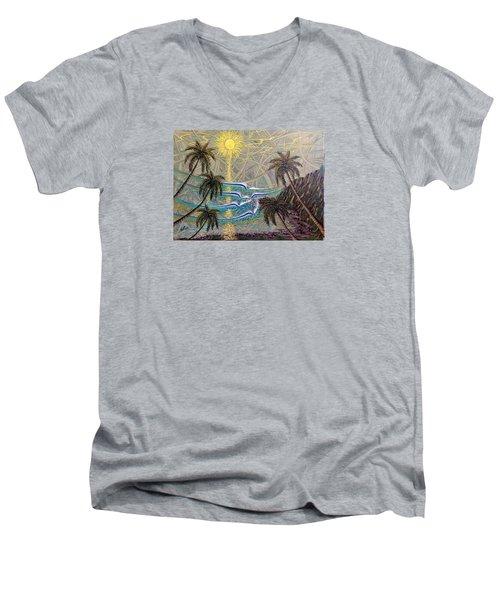 Healing Sunset Men's V-Neck T-Shirt