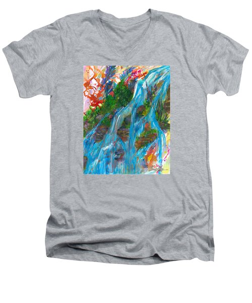 Healing Waters Men's V-Neck T-Shirt by Denise Hoag