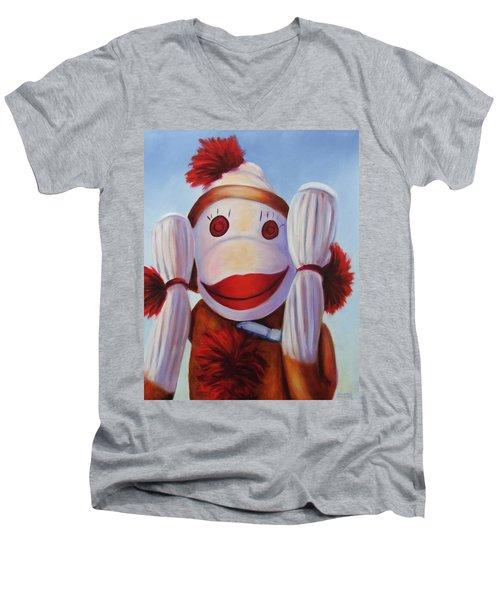 Hear No Bad Stuff  Men's V-Neck T-Shirt