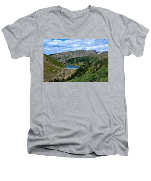 Heart Lake In The Indian Peaks Wilderness Men's V-Neck T-Shirt