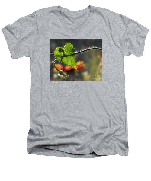 Heart Leaf 1 Men's V-Neck T-Shirt